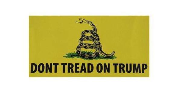 Don't Tread On Trump Bumper Sticker