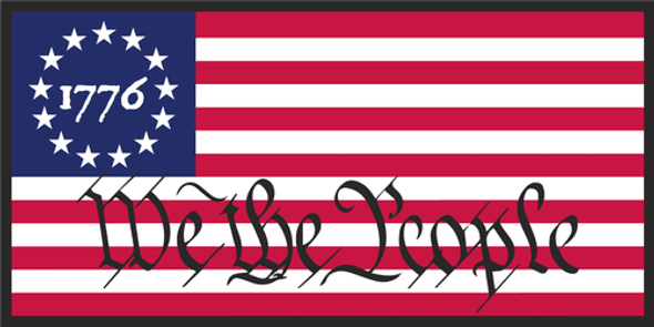 1776 Betsy Ross We The People Bumper Sticker