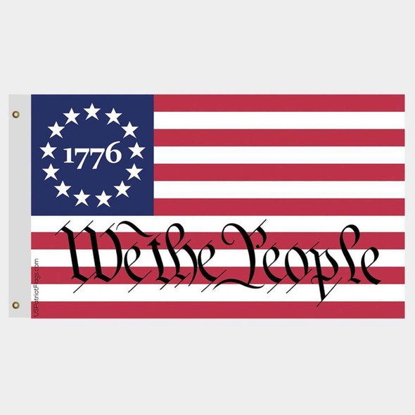 1776 Betsy Ross We The People Flag Made in USA