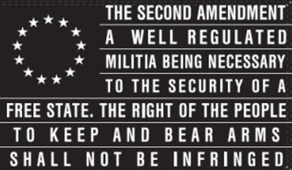 3x5 Betsy Ross 2nd Amendment Black Flag