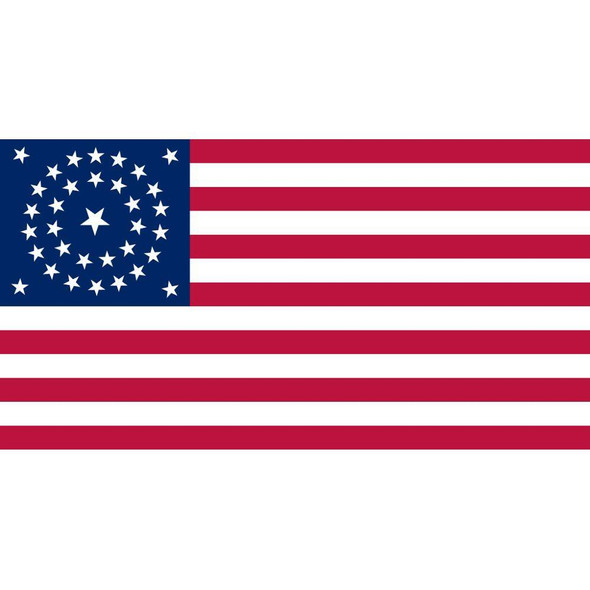34 Star Circular American Flag - Made in USA Stars & Stripes Kansas