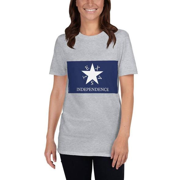 Conrad Texas Independence Flag Short-Sleeve Unisex T-Shirt