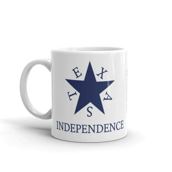 Conrad Texas Independence White glossy mug