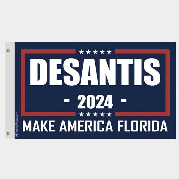 DeSantis 2024 Make America Florida Flag - Made in USA