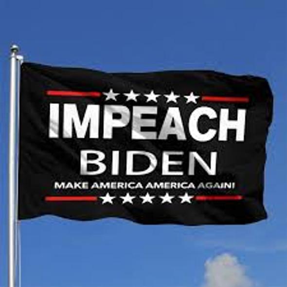 Impeach Biden Make America Great Again Flag - Made in USA