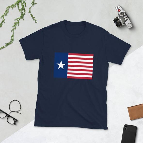 Ceremonial Flag of the Texas Navy Short-Sleeve Unisex T-Shirt