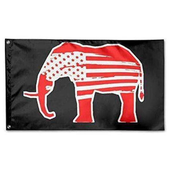 Elephant Republican USA Flag Custom Flag - Made in USA