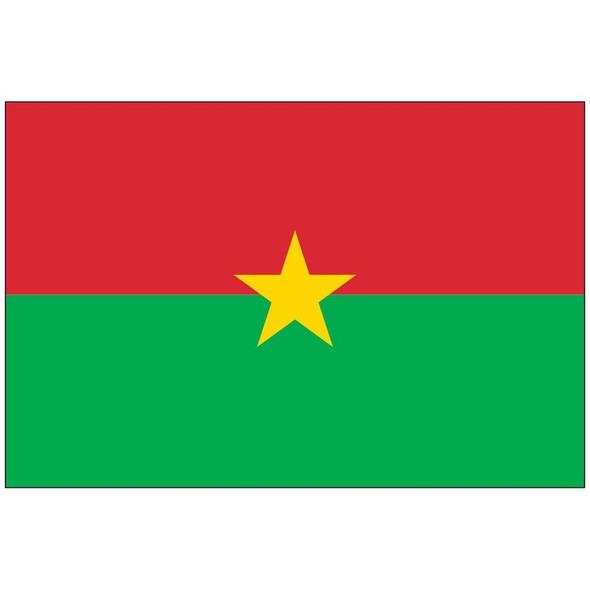 Burkina Faso Flag Nylon Outdoor - Made in USA