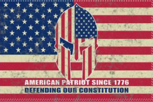 3x5 ft American Patriot Since 1776 Defending Our Constitution Vintage Flag