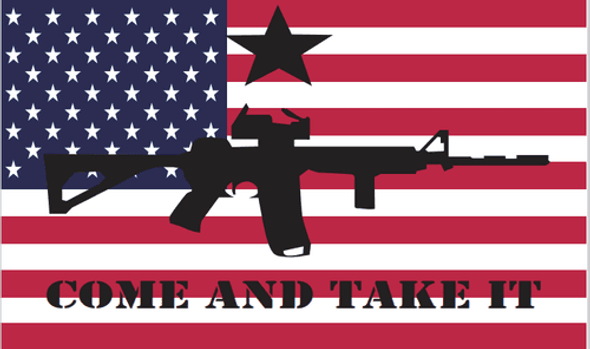 3'x5' American Come and Take It Rough Tex Flag