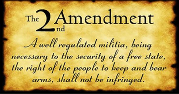 2'x3'' 2nd Amendment Parchment Double Sided Flag - Rough Tex