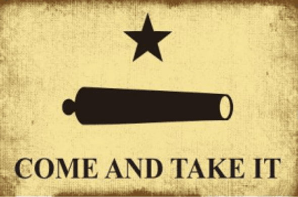 3'x5' Gonzales Come And Take It Double Sided Vintage Flag - Rough Tex