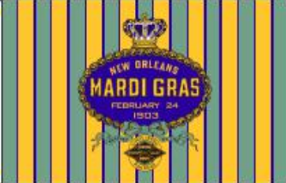 3'x5' New Orleans Mardi Gras 1903 Double Sided Flag - Rough Tex