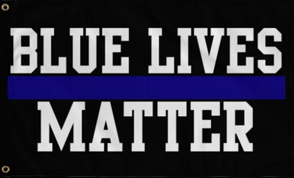 3'x5' Blue Lives Matter Thin Blue Line Flag - Rough Tex