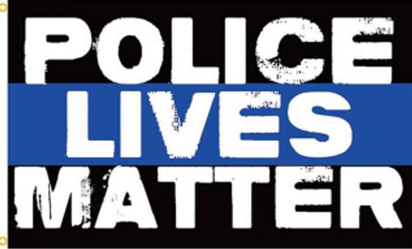 3'x5' Police Lives Matter Thin Blue Line Vintage Flag - Rough Tex