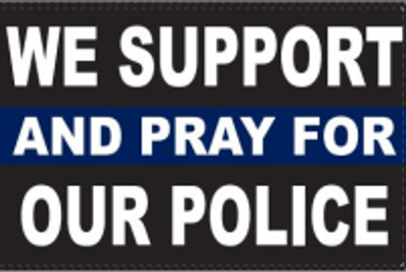2x3 We Support And Pray For Our Police Thin Blue Line Flag - Rough Tex