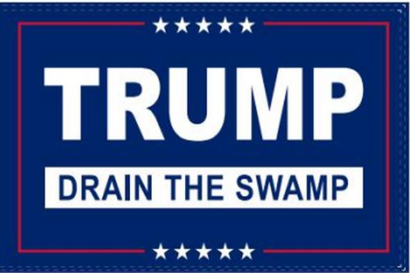 3'x5' Trump Drain The Swamp Flag - Rough Tex