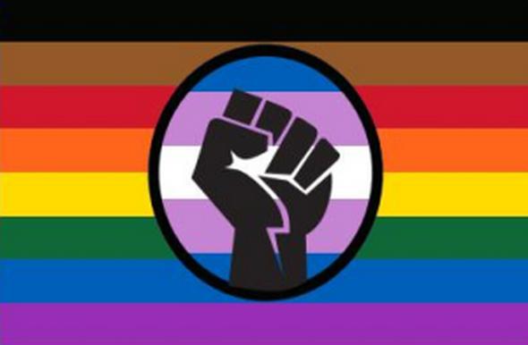 Philadelphia Pride Black Lives Matter (BLM) Rainbow Flag - Rough Tex