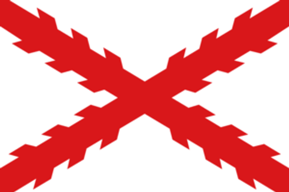 Spain Cross of Burgandy Flag - Rough Tex