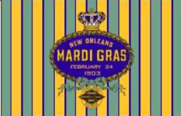 3'x5' New Orleans Mardi Gras 1903 Flag - Rough Tex