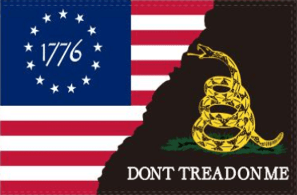 Betsy Ross 1776 Gadsden Don't Tread On Me Flag - Made in USA