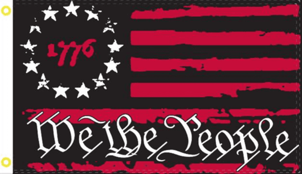 1776 Betsy Ross We The People Patriot Red Flag - Made in USA