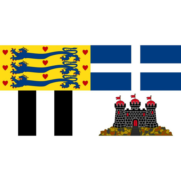 Royal Standard of the Prince Philip, Duke of Edinburgh Flag - Made in USA