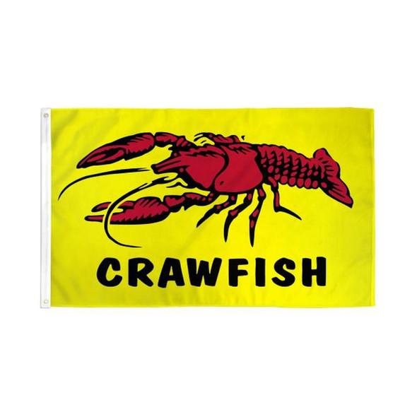 Crawfish Flag 3x5 ft - Rough Tex