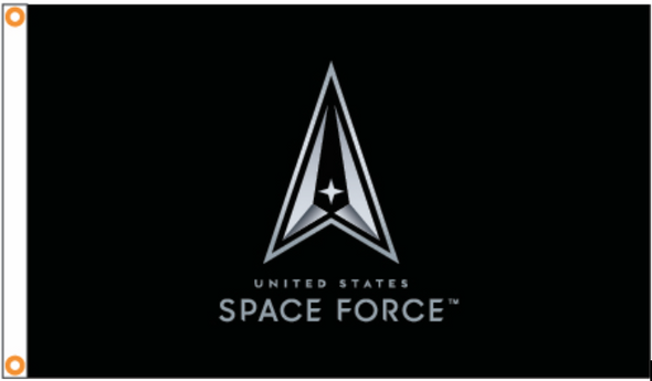 Space Force Logo Black 3x5 ft Flag - Made in USA
