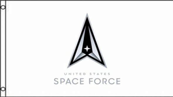 Space Force Logo White 3x5 ft Flag - Made in USA