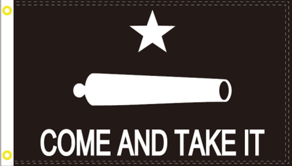 3x5 Gonzales Come And Take It Black Tactical Flag - Rough Tex