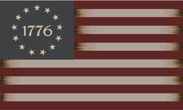 Betsy Ross 1776 Vintage Tea Stained Flag 3x5 ft. - Rough Tex