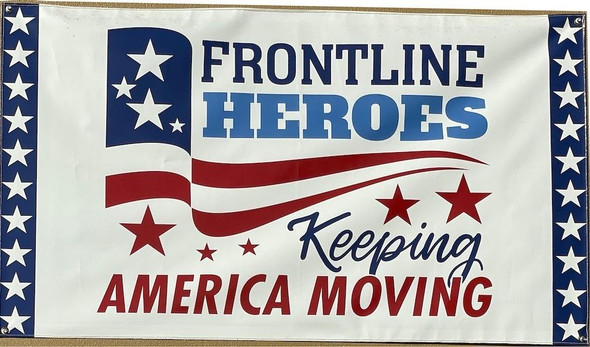 Frontline Heroes Keeping America Moving Flag - Made in USA