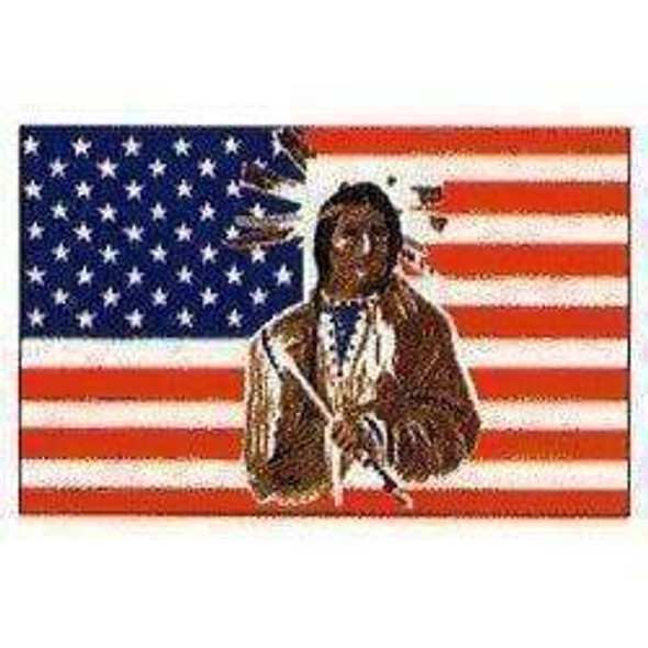 3 x5 American Flag with Indian
