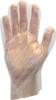 Clear High Density Polyethylene Glove, 100/BX 10BX/Carton 10Carto