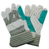 """""""A/B"""" Grade Double Reinforced Leather Palm, Rubberized Safety Cuf"""