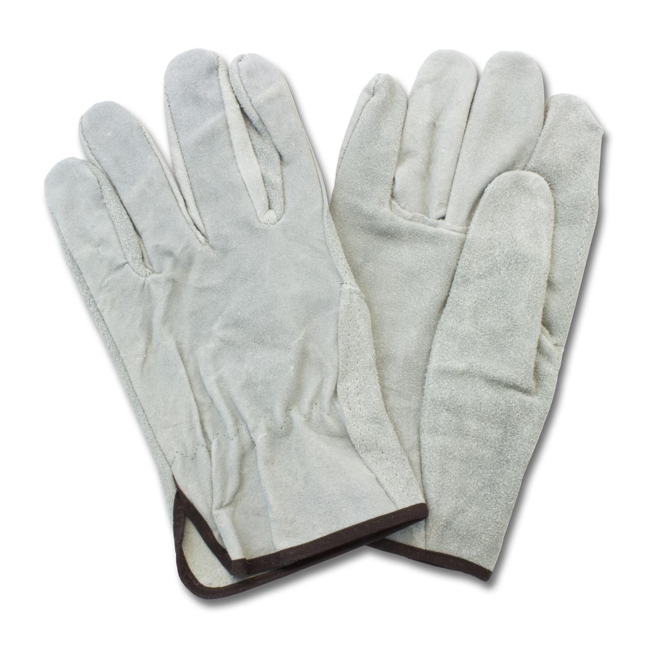 """A/B"" Grade Gunn Cut Gray Leather Drivers, Straight Thumb, 1DZ Pai"