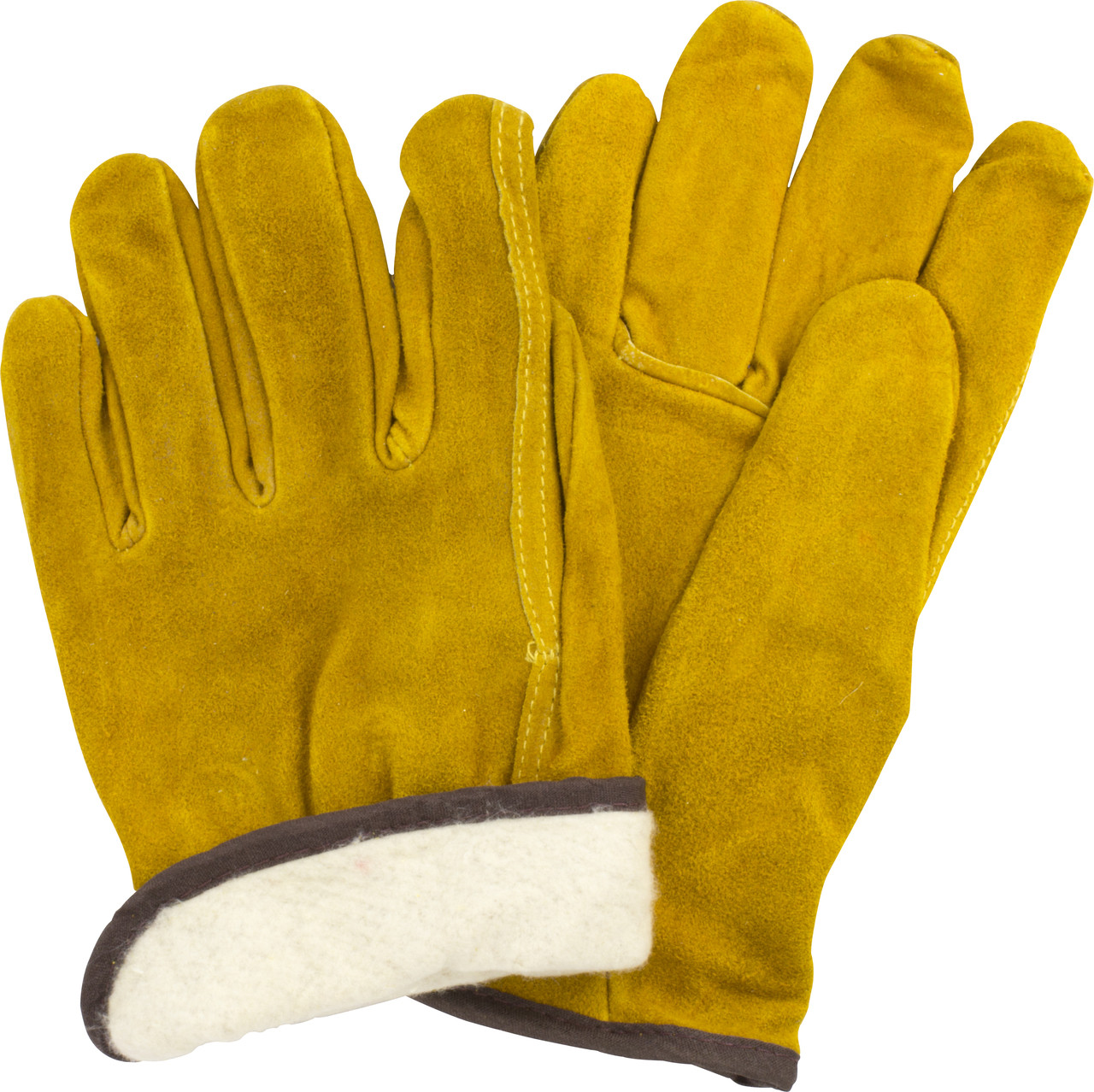 Split Cow Leather Drivers, Straight Thumb, Flannel Lining, 1DZ Pair/Bag
