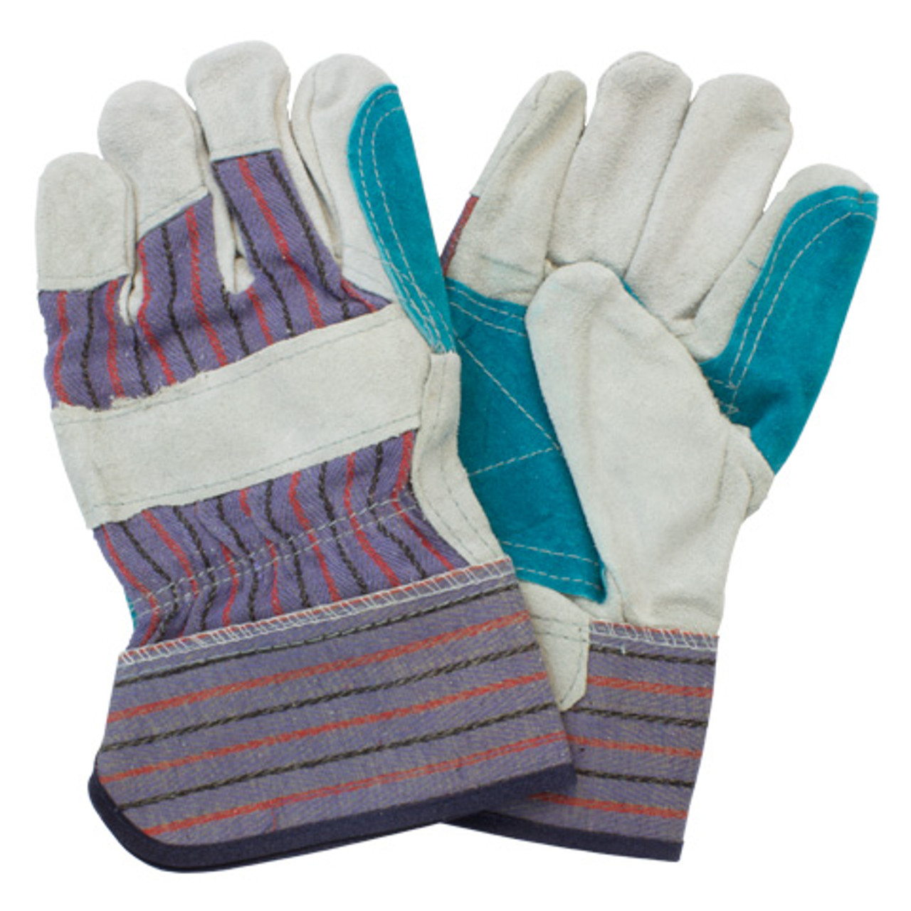 """""""A"""" Grade Double Reinforced Leather Palm, Rubberized Safety Cuff,"""