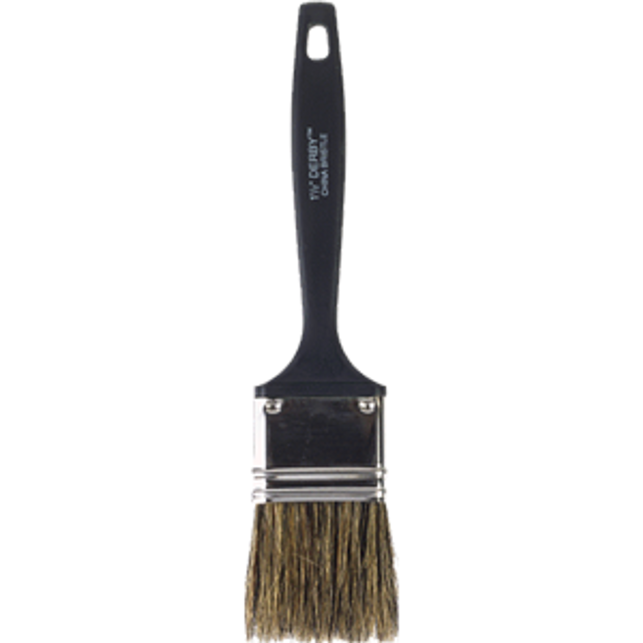 "WOOSTER 1113 1-1/2"" DERBY GRAY CHINA BRISTLE FLAT PAINT BRUSH"