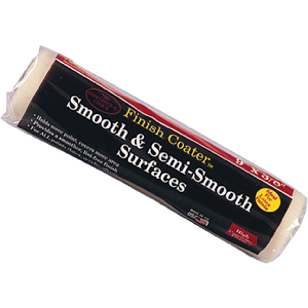 """FOAMPRO 80 9' X 3/8"""" SMOOTH & SEMI SMOOTH ROLLER COVER SOLVENT RESISTANT"""