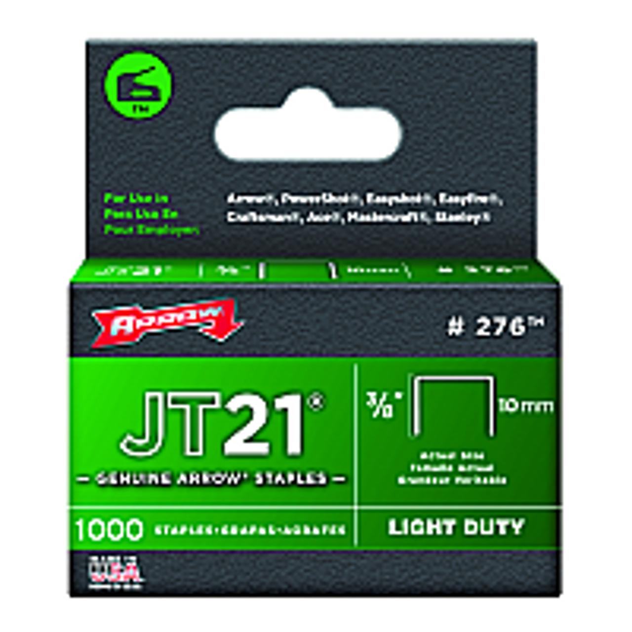 "ARROW FASTENER 276 3/8"" 10MM JT-21 STAPLES"