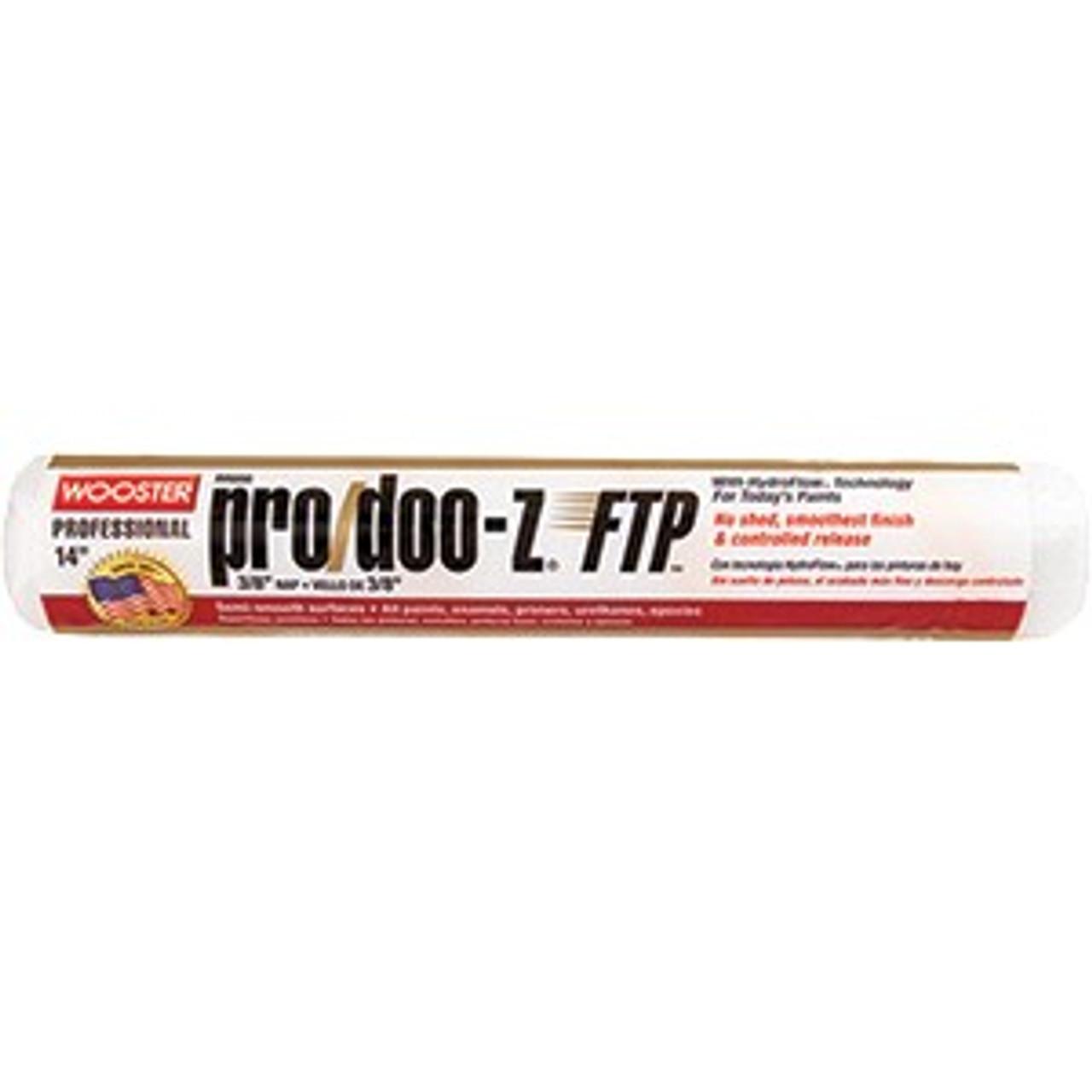 "Wooster RR666 14"" Pro/Doo-Z FTP 3/8"" Nap Roller Cover"