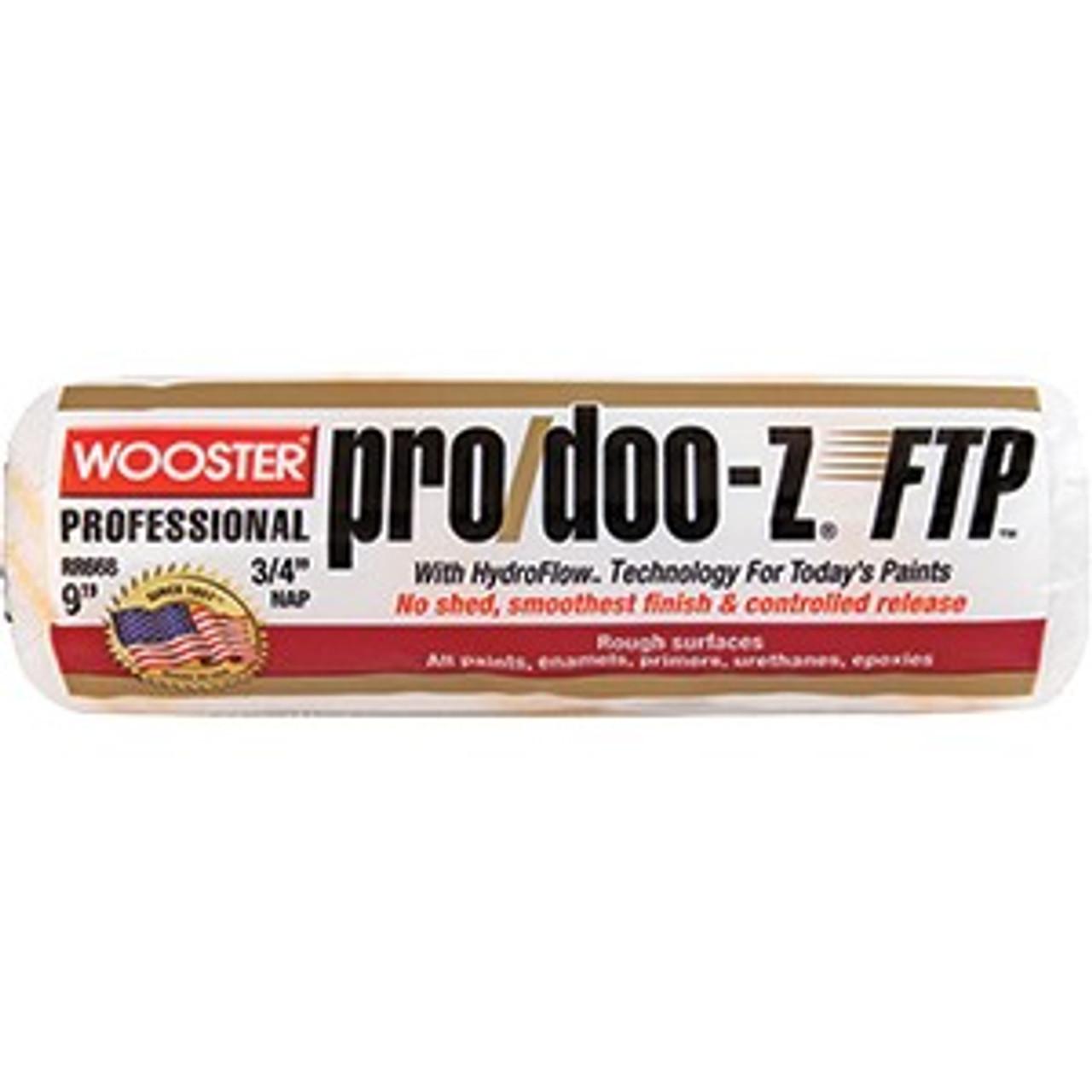"Wooster RR668 9"" Pro/Doo-Z FTP 3/4"" Nap Roller Cover"