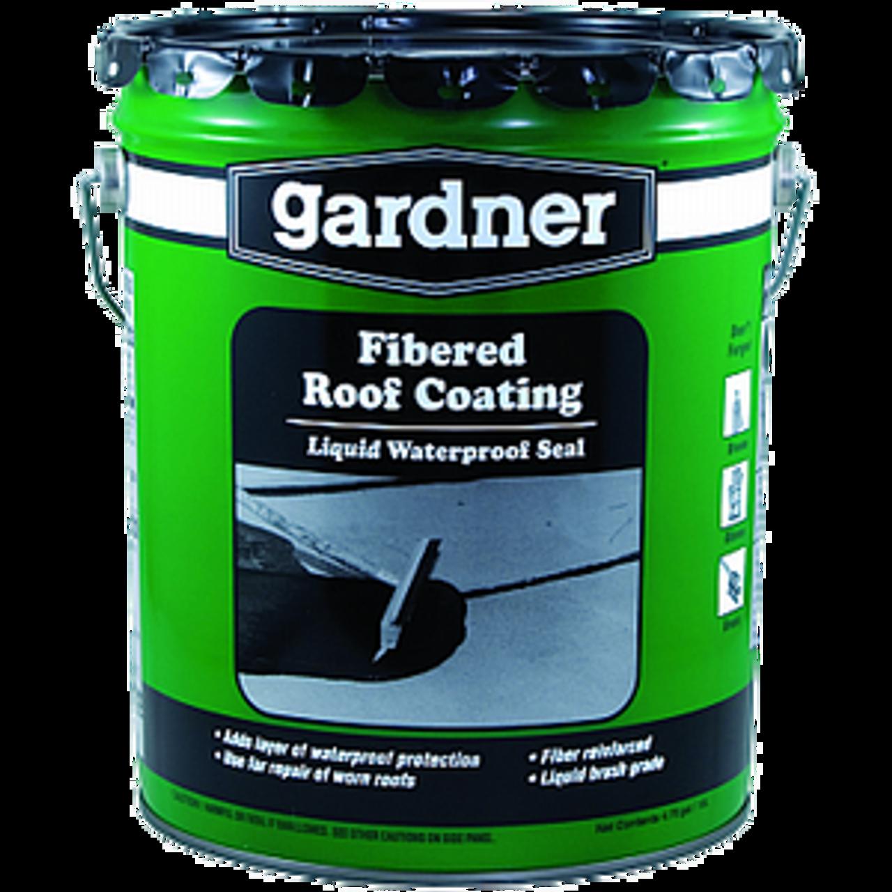 GARDNER GIBSON 0105-GA 5G BLACK FIBERED ROOF COATING