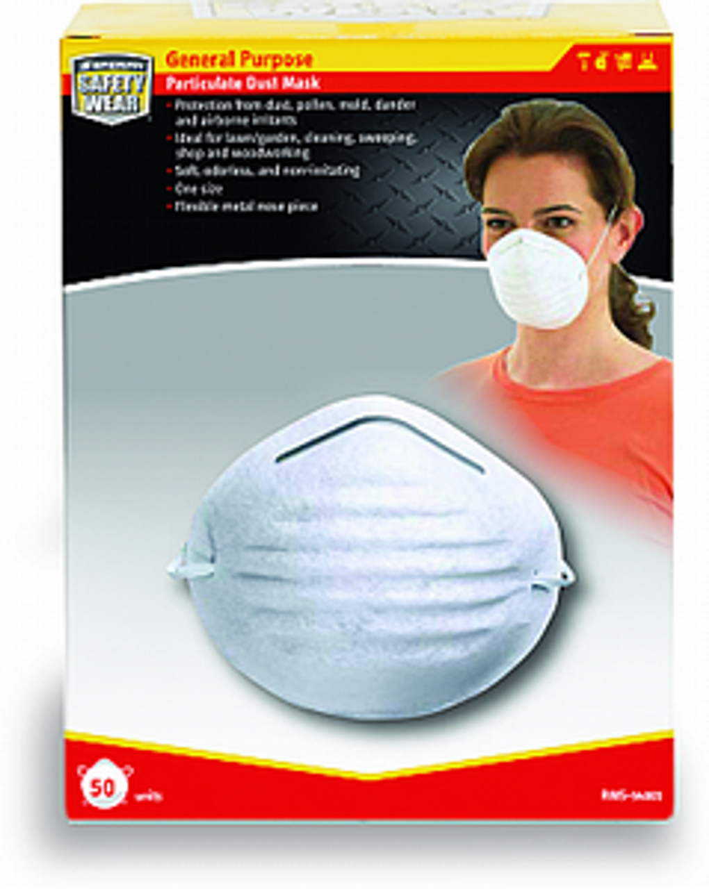 Honeywell RWS-54001 Dust Mask 50 Pk - 50ct. Case