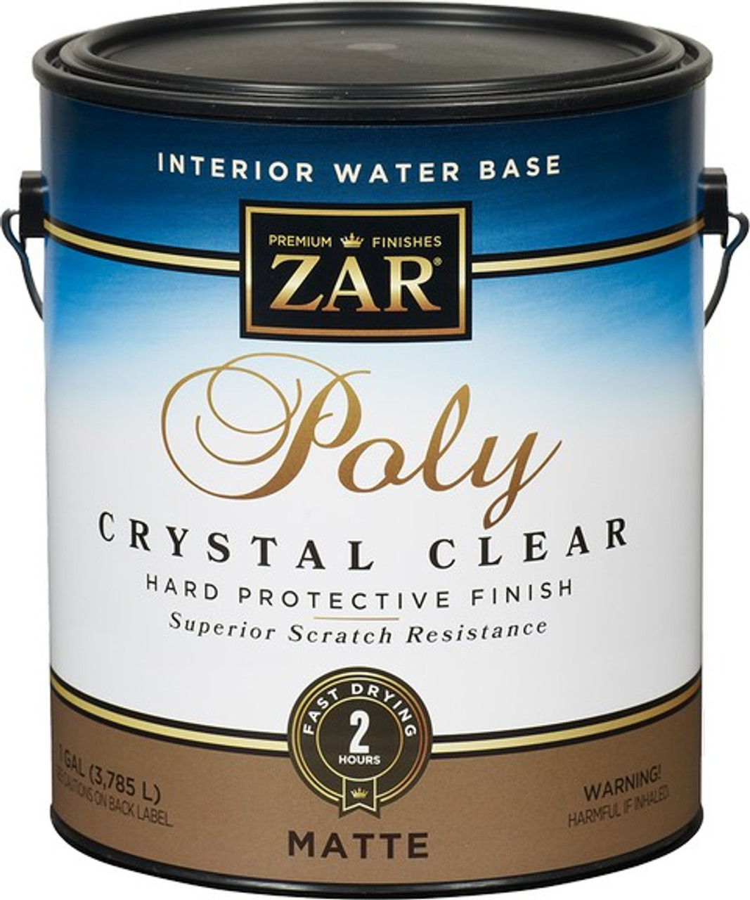 Zar 34413 1G Matte Poly Crystal Clear Int WB