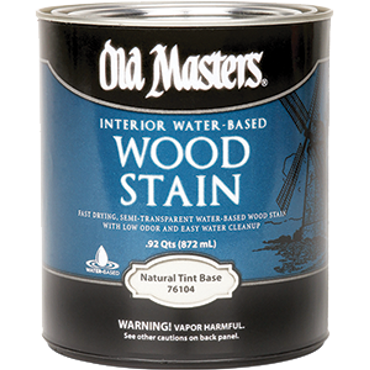 OLD MASTERS 76104 QT H2O INTERIOR WOOD STAIN TINT BASE