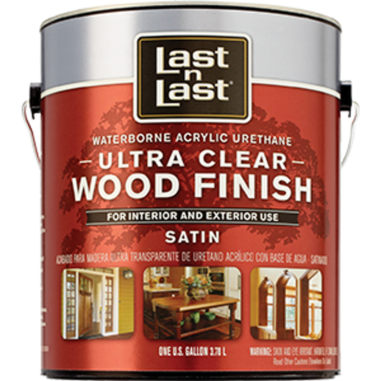 ABSOLUTE 13101 1G SATIN ULTRA CLEAR LAST N LAST WATERBORNE WOOD FINISH 275 VOC