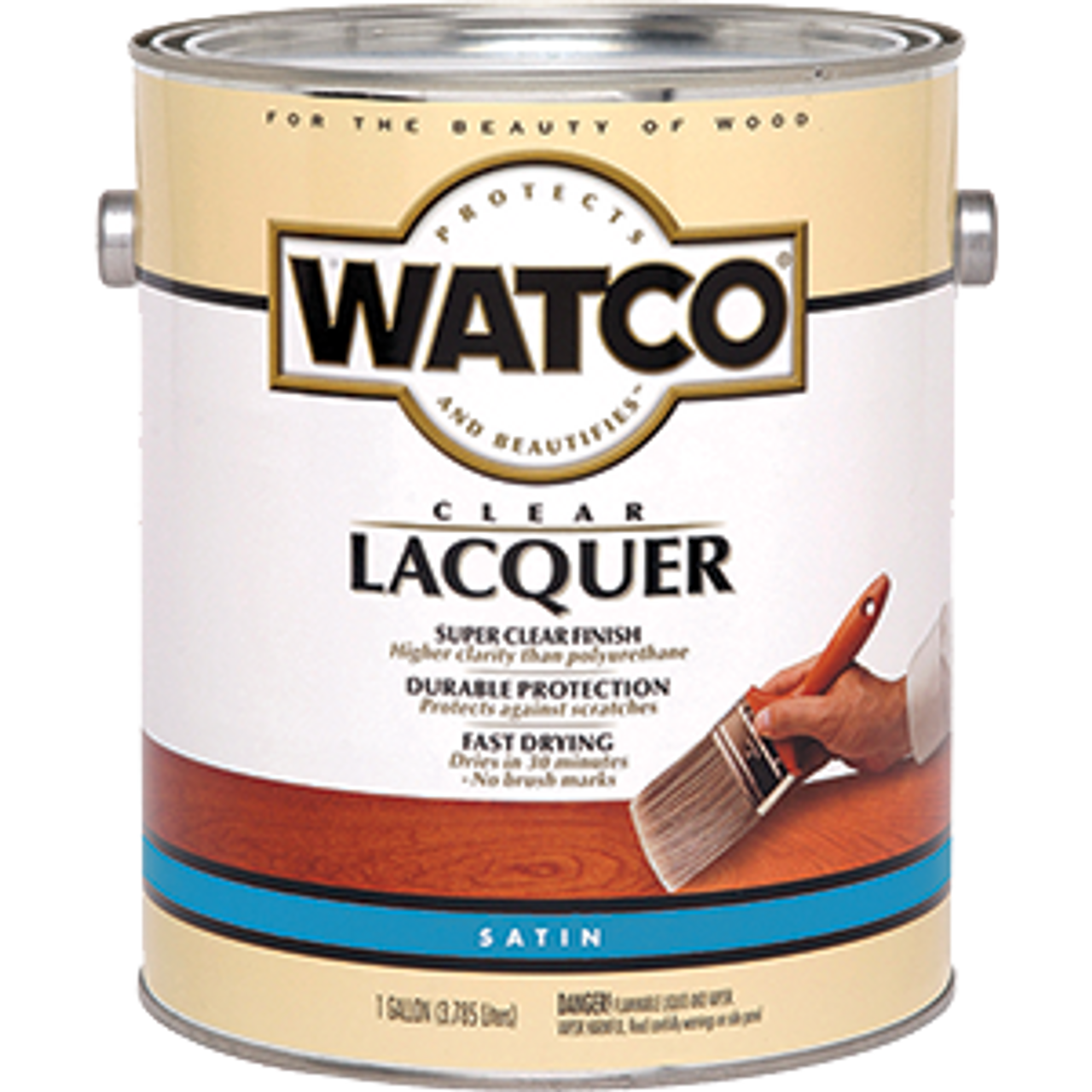 WATCO 63231 1G SATIN CLEAR LACQUER WOOD FINISH